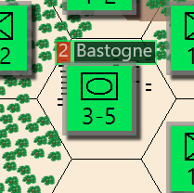 Battle Of The Bulge - Draft Map - Bastogne Close up